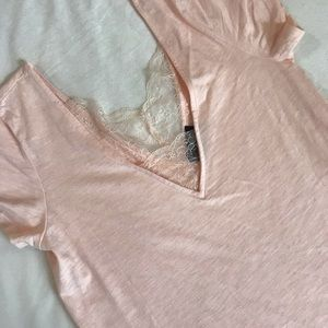 T-Shirt with lace detail - brand is VICI